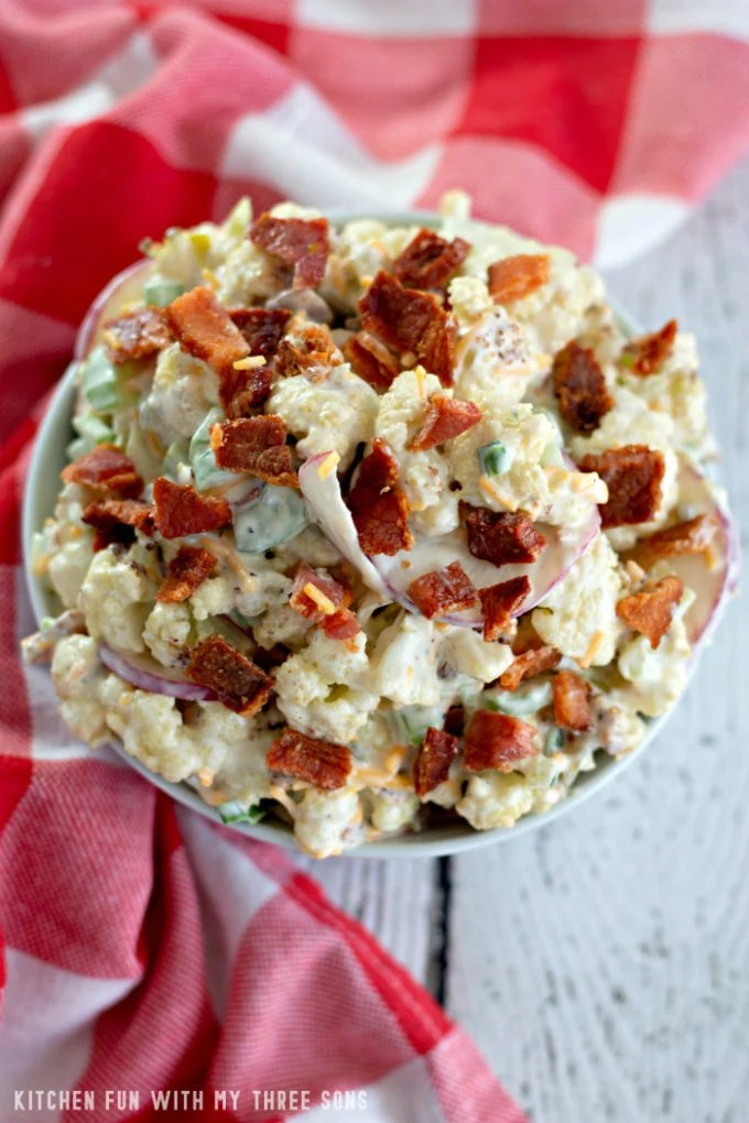 Low Carb Cauliflower Salad
