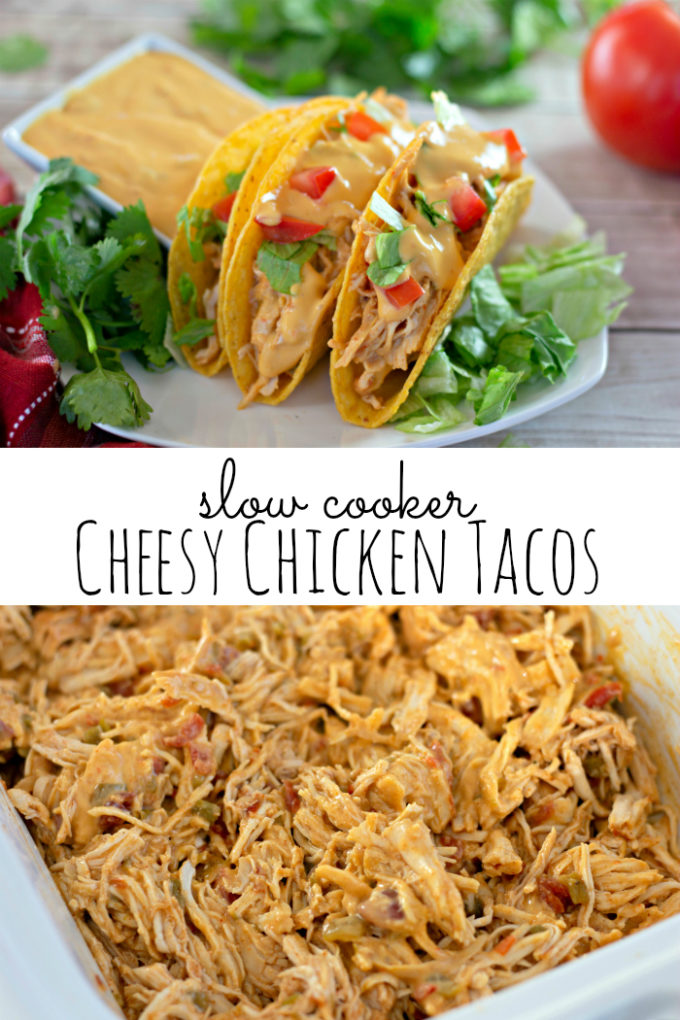 Slow Cooker Cheesy Chicken Tacos