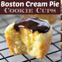 Boston Cream Pie Cookie Cups