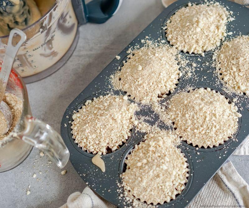 Banana Crumb Muffins to be baked