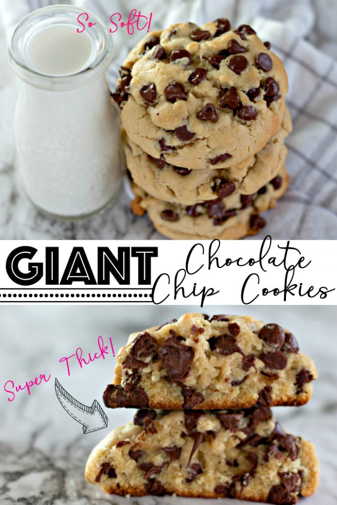 Giant Chocolate Chip Cookies on Pinterest