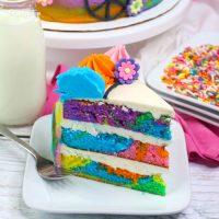 Hippie Tie Dye Cake