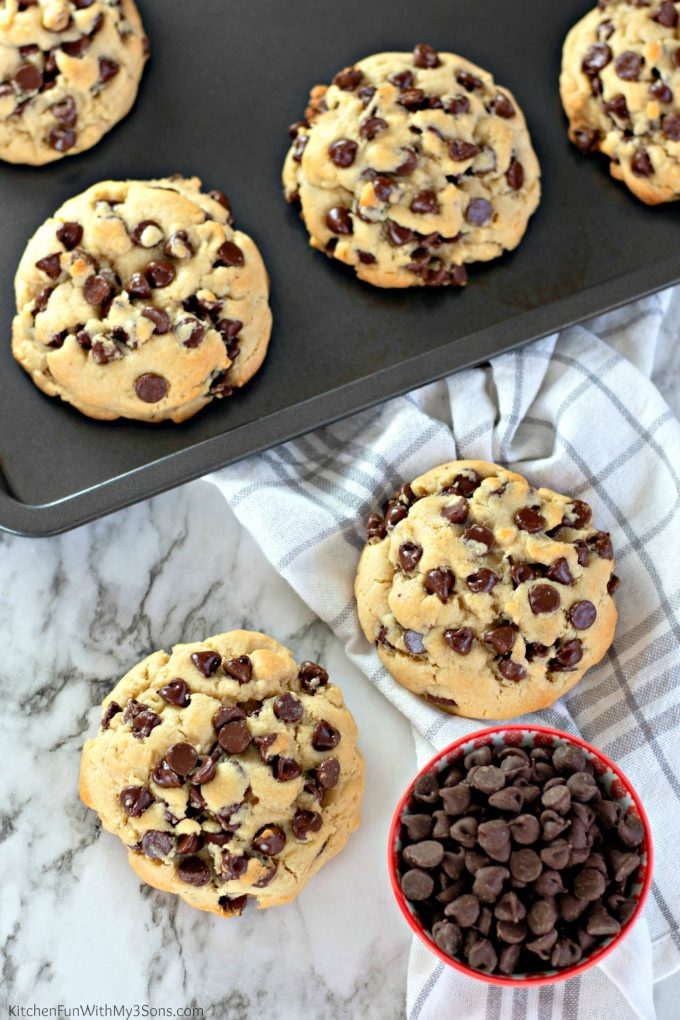 Giant Thick Chocolate Chip Cookies