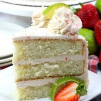 Strawberry Margarita Cake with Tequila Frosting