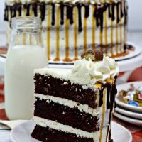 Chocolate Layer Twix Cake
