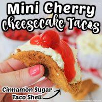 Mini Cherry Cheesecake Tacos