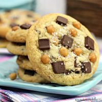 Salted Caramel Chocolate Chunk Cookies