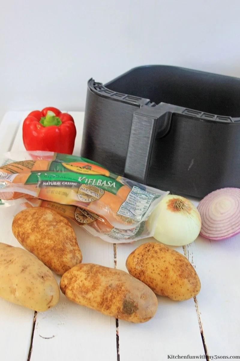 BBQ Air Fryer Sausage & Potatoes recipe