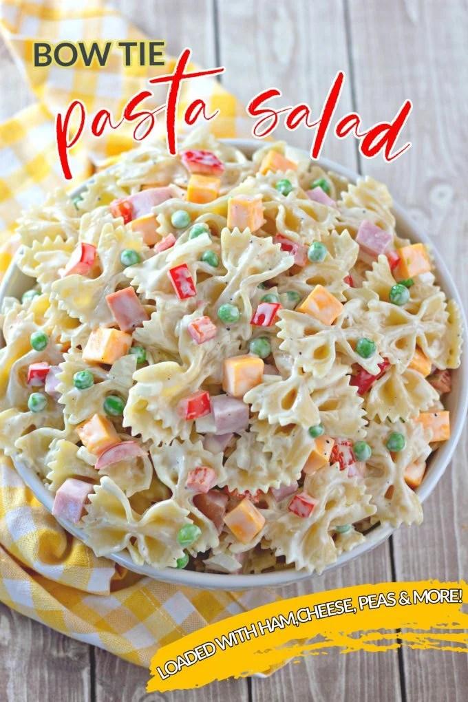 Bowtie Pasta Salad Recipe on Pinterest