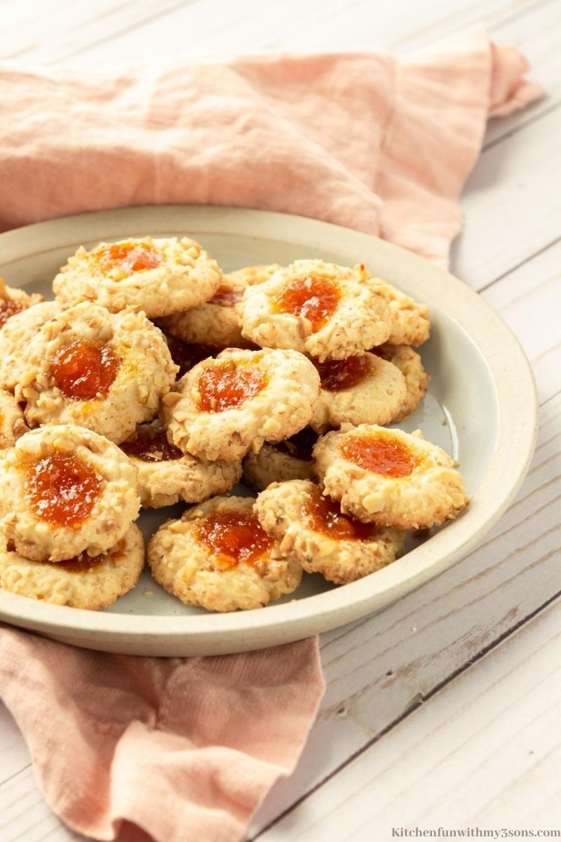 Apricot Walnut Thumbprint cookie