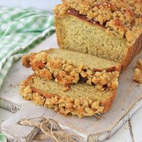 Caramel Apple Banana Bread with Streusel