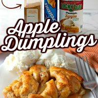 3-ingredient Apple Dumplings