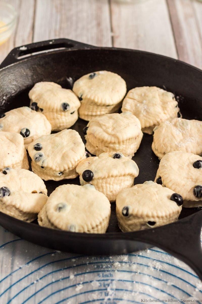biscuits in a skillet
