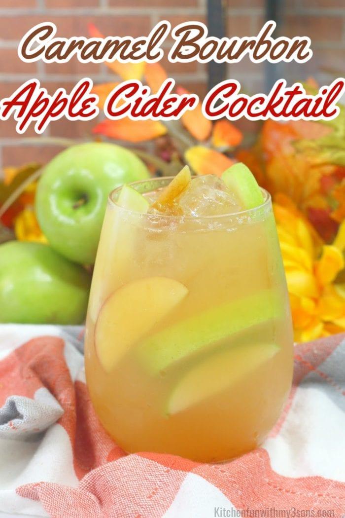 Caramel Bourbon Apple Cider Cocktail