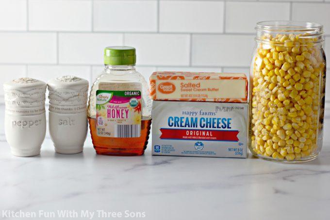 ingredients to make Honey Butter Skillet Corn