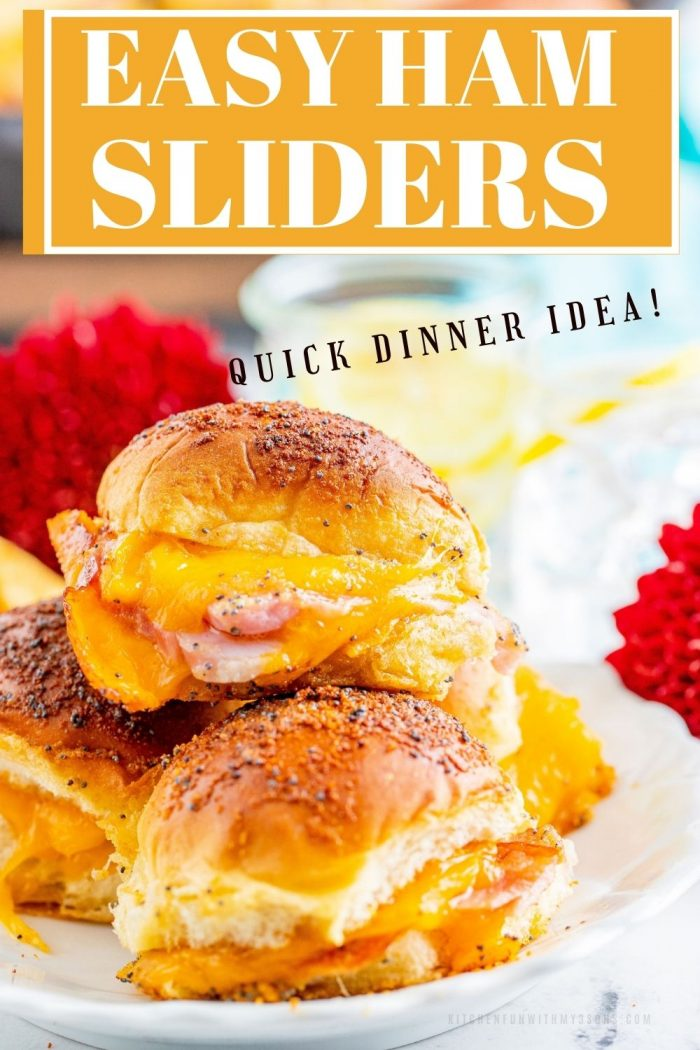 ham and cheese slider for Pinterest