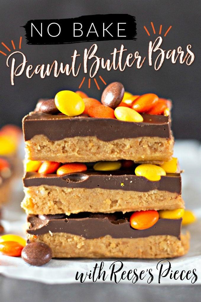 No Bake Reese's Peanut Butter Bars on Pinterest