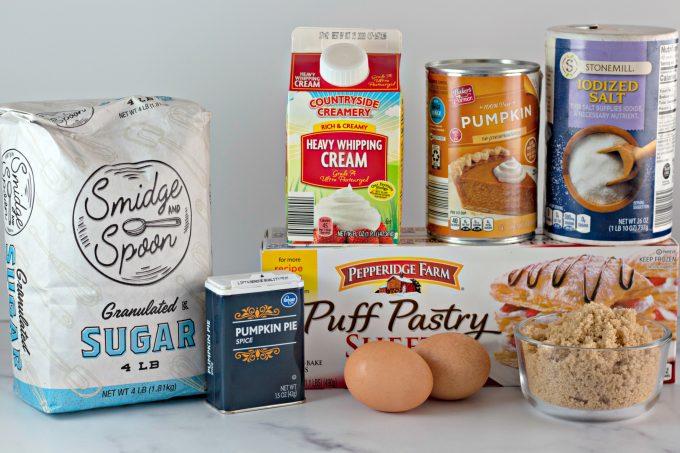 ingredients to make Easy Pumpkin Hand Pies