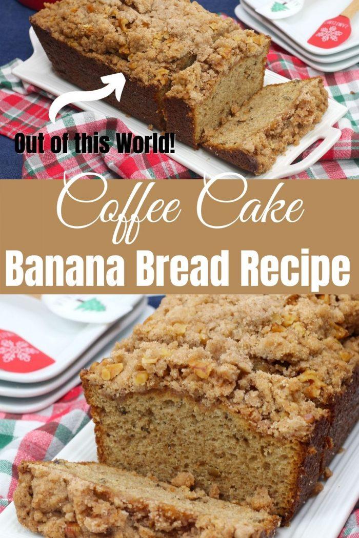 pinterest image for coffee cake banana bread
