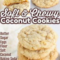 Soft & Chewy Coconut Cookies