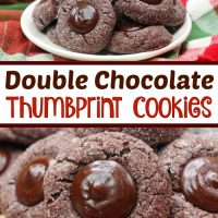 Espresso Cookies - Double Chocolate Thumbprint Cookies