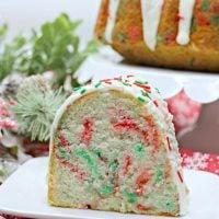 Christmas Funfetti Cake