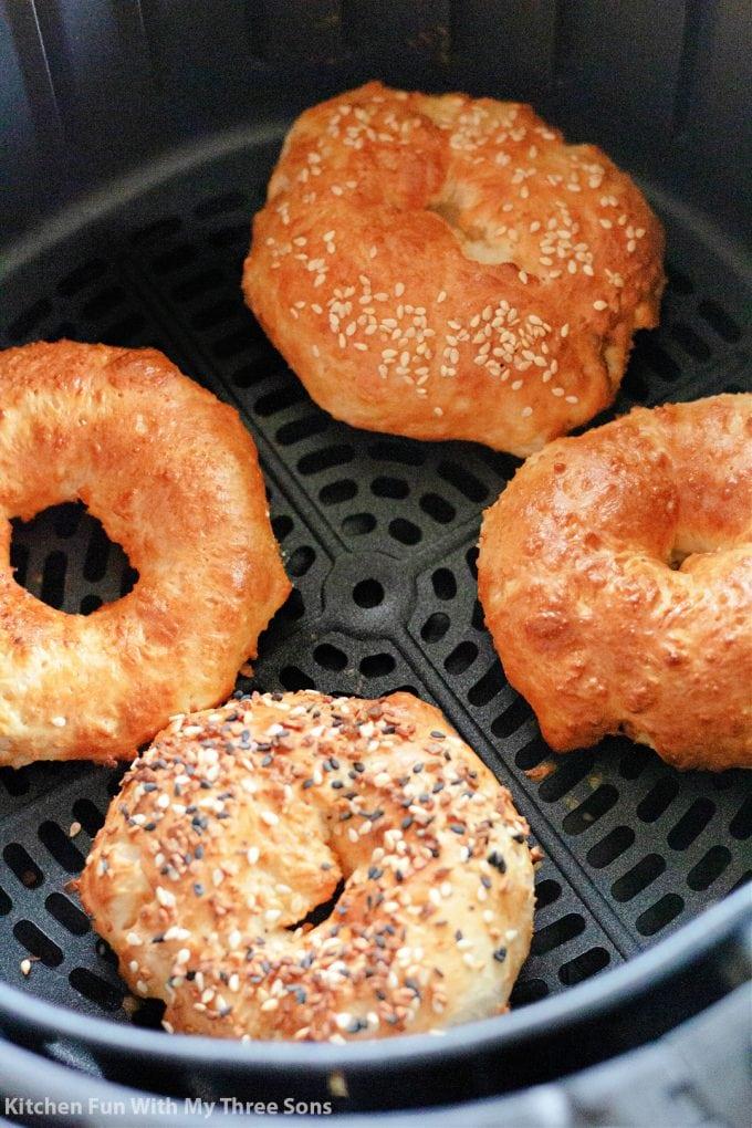 freshly air fried bagels