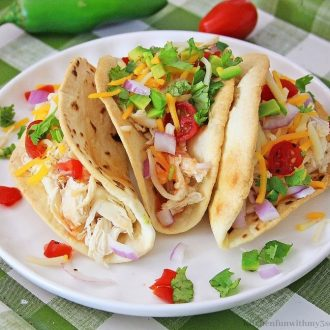 Sweet Chili Lime Instant Pot Chicken Tacos