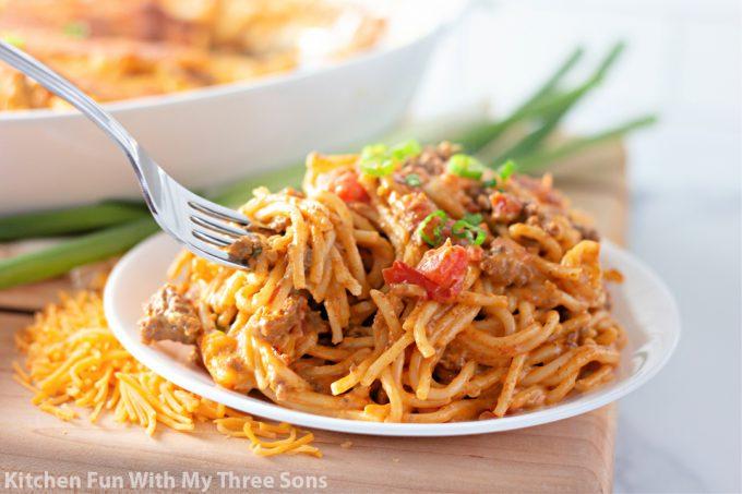 Cheesy Taco Spaghetti