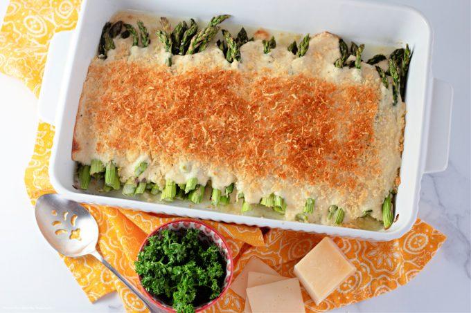freshly baked Baked Asparagus Casserole.
