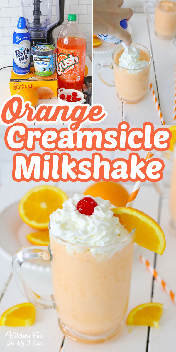 An Orange Creamsicle Shake is a yummymix of creamy vanilla and a punch of orange soda that makes this classic flavor combo.