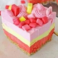 Starburst Jello Cheesecake (No Bake)