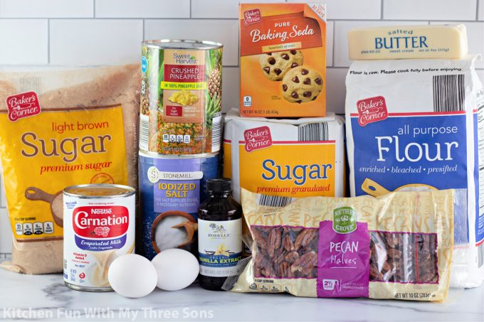 ingredients to make the Granny Cake Recipe.