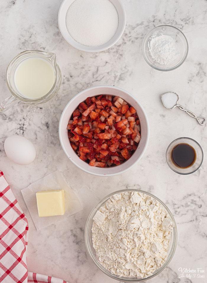 Strawberry Bread Ingredients