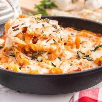 One Pot Chicken Parmesan Pasta
