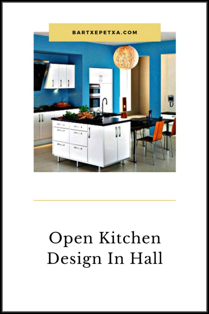 Open Kitchen Design In Hall