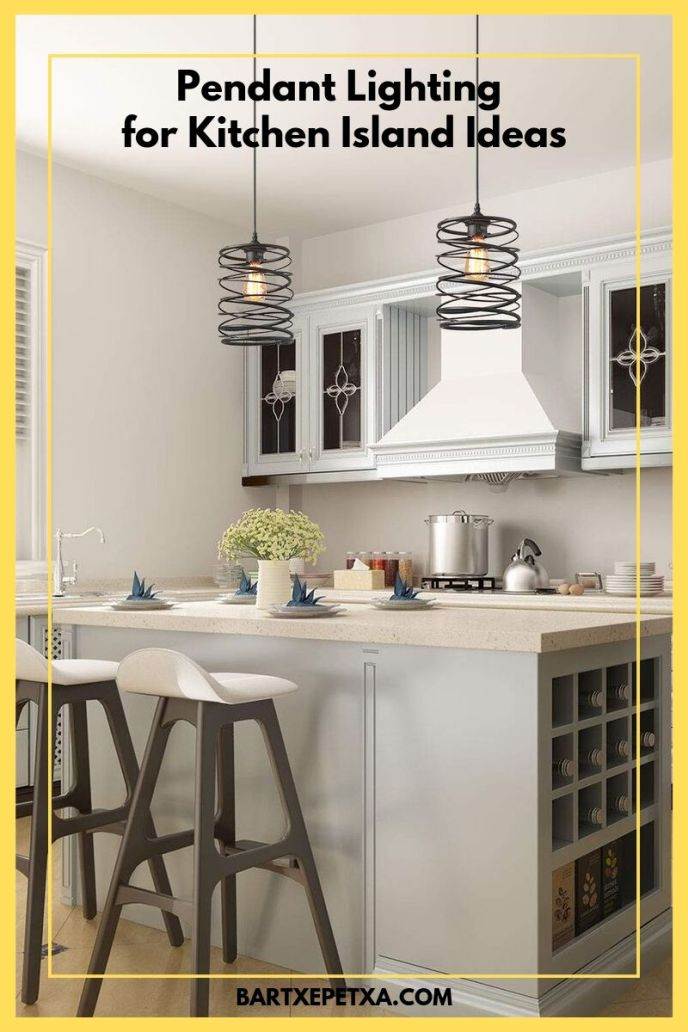 ideas for frushed steel finish industrial kitchen island pendant lighting