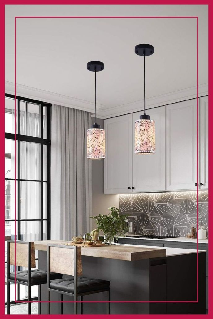 mosaic pendant lighting for kitchen island ideas