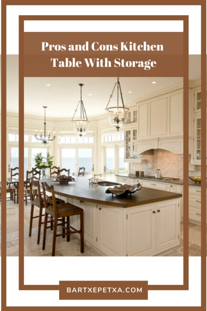 Pros and Cons Kitchen Table With Storage