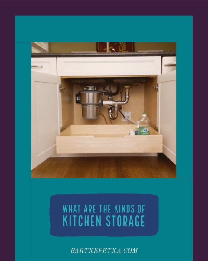 What are the kinds of kitchen storage?