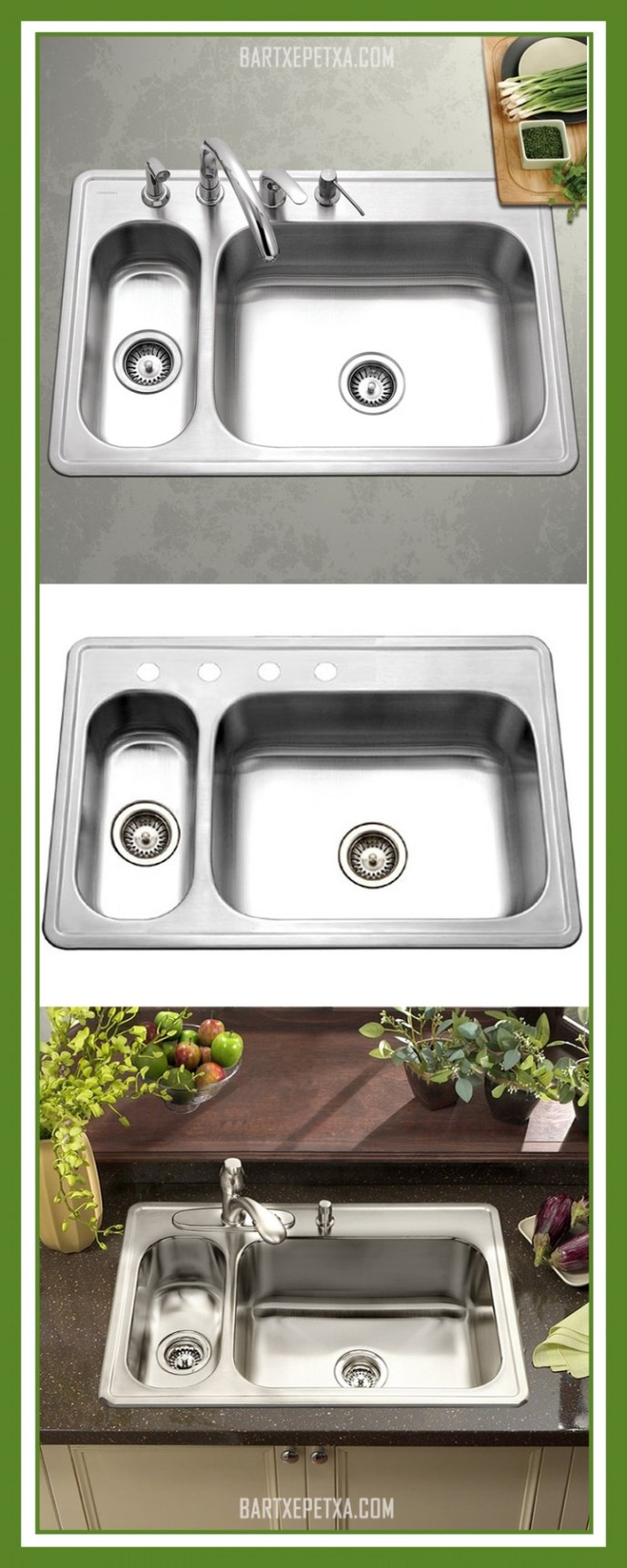 best small double kitchen sink