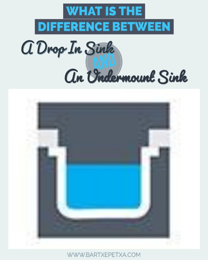 What is the difference between a drop in sink and an undermount sink?