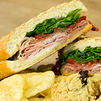 9th Street Hoagie - All natural Genoa salami, imported Prosciutto di Parma, sharp provolone, and roasted red peppers are balanced with the bright, peppery flavor of arugula