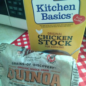 Cooking Quinoa with chicken stock