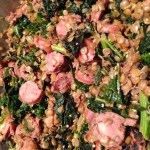 Spinach, Chicken Sausage & Lentils