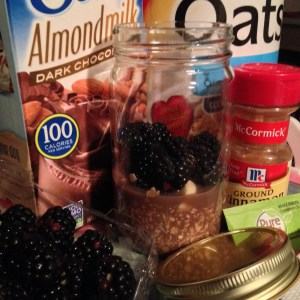 Chocolate Oatmeal in a Jar