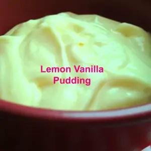 Easy Lemon Vanilla Pudding