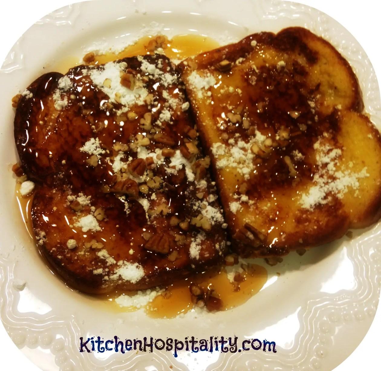 Vanilla Pecan French Toast