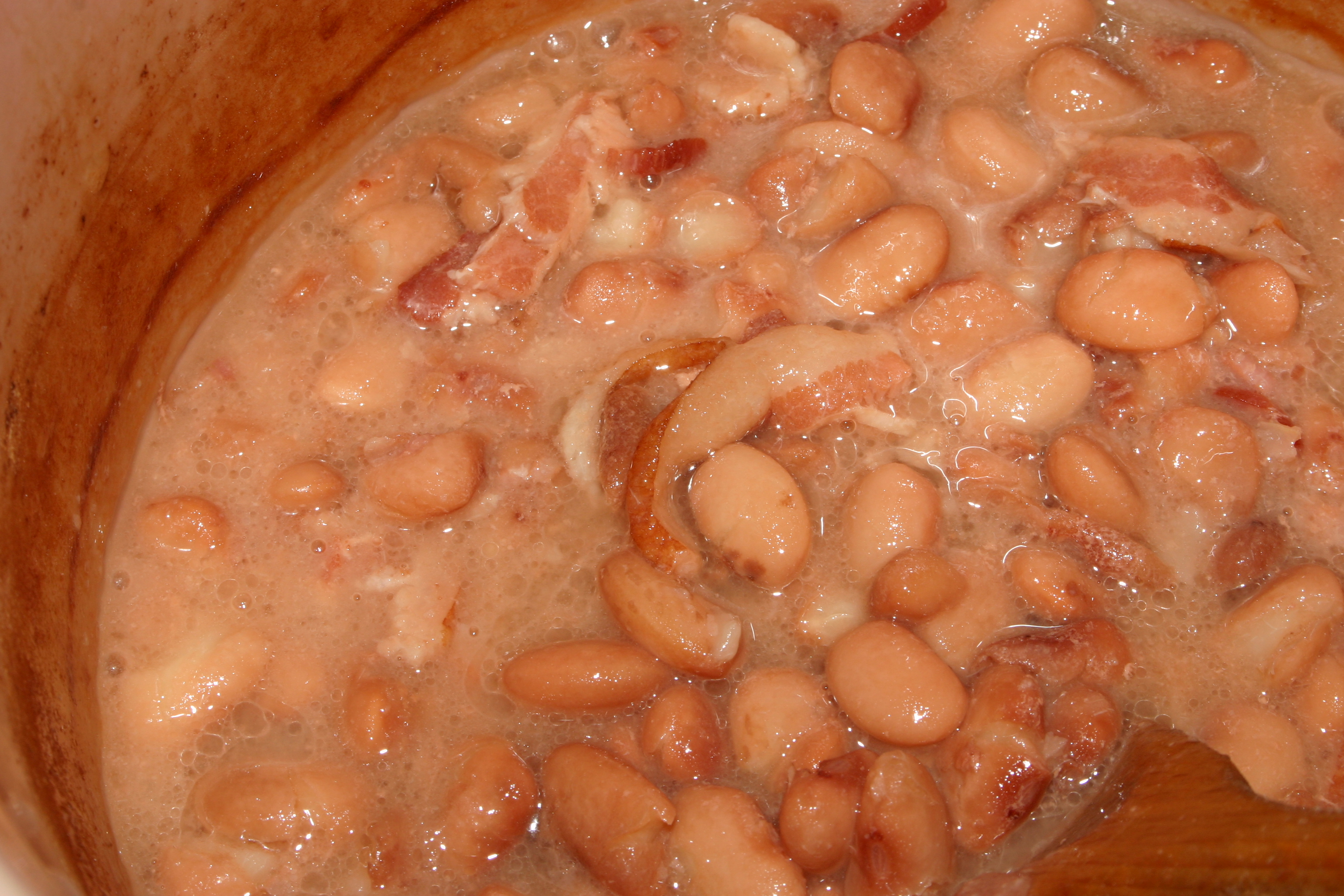 Slow Cooker All-Day Pork and Beans with Hamburger
