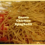 Slow Cooker Queso Chicken Spaghetti